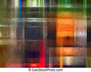 peinture, huile, fond