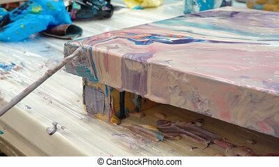 peinture, image, fluide, art, vidéo, technique