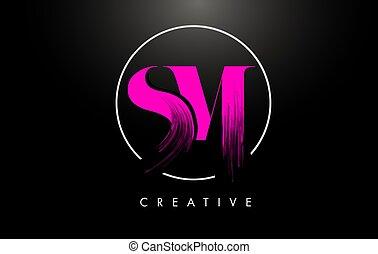 peinture, leters, icon., coup, sm, logo, brosse, rose,...