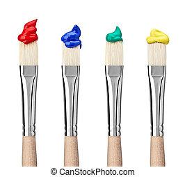 peinture, métier,  art, brosse