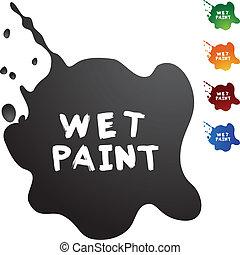 peinture, mouillé