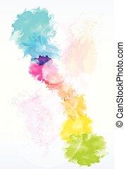 peinture, résumé, éclaboussure, coloré, fond