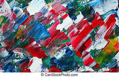 peinture, résumé,  art, Couleurs, acrylique