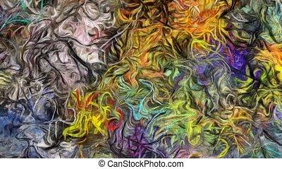 peinture, résumé, coloré