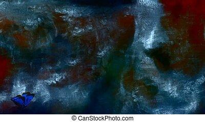 peinture, résumé, couleurs pastel