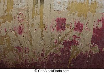Gratt peinture m tal rouille illustration de stock - Peinture sur enduit gratte ...