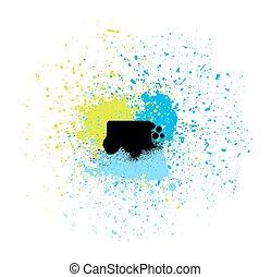 peinture, vecteur, coloré, gouttes