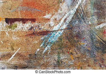 peintures, établi, -, gouttes, peintre