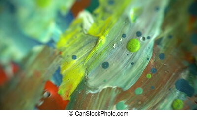 peintures, mélange, coup, coloré, macro