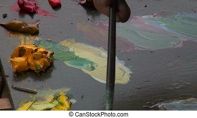 peintures, palette