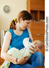 peito, bebê, mãe, alimentação