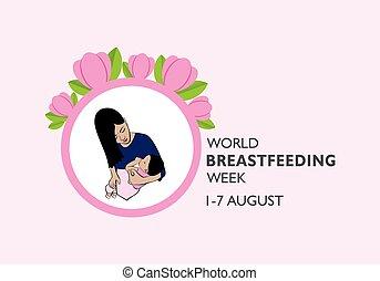 peito, conceito, agosto, observado, mundo, ilustração, ...