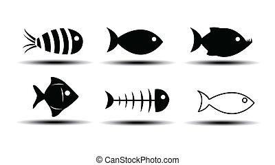 peixe, ícones
