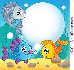 peixe, 2, tema, imagem