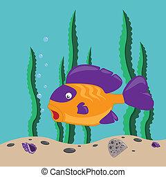 peixe, amarela
