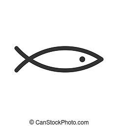 peixe, arte, abstratos, linha