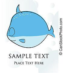peixe, cartão