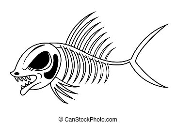 peixe, esqueleto