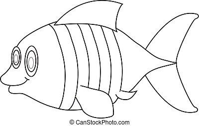 peixe, forre desenho