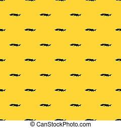 peixe fresco, vetorial, esturjão, padrão