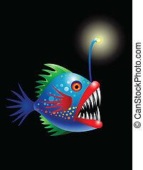 peixe, fundo mar