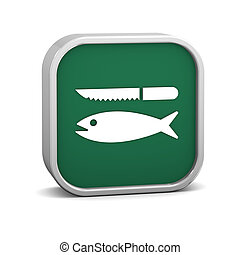 peixe, limpeza, sinal