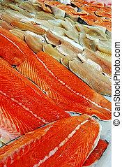 peixe prepara filés, venda