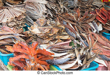 peixe, secado
