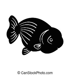 peixe, silueta