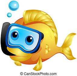 peixe, snorkeling