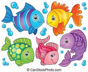 peixe, tema, imagem, 4