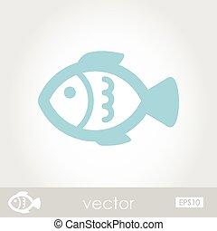 peixe, vetorial, ícone