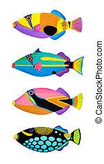 peixes, gatilho, cobrança