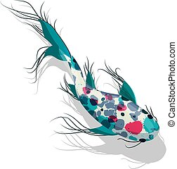 peixes koi, vetorial