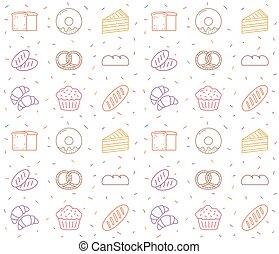 pekařství, -, seamless, model
