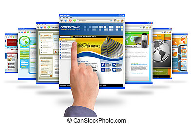 pekande fingra, websites, internet
