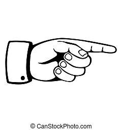 pekande, hand