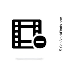 película, ícone, branco, experiência.