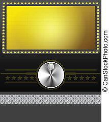 película, bandera, o, pantalla