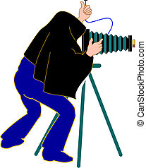 película, cámara, director