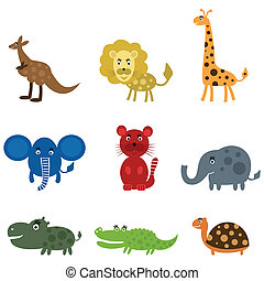película, caricatura,  animal