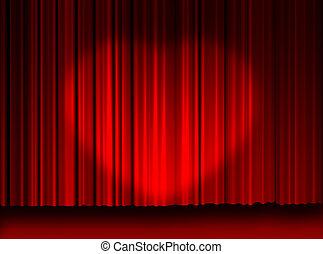 película, cortinas, luz, amor