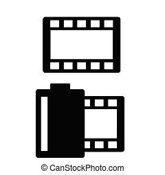 película, fita, vetorial, ilustração