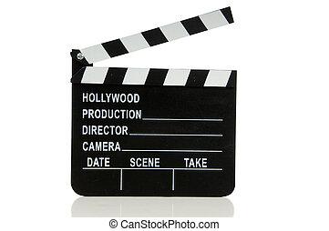 película, hollywood, tablilla