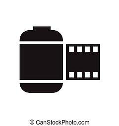 película, icon.