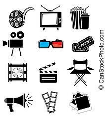 película, icono, conjunto