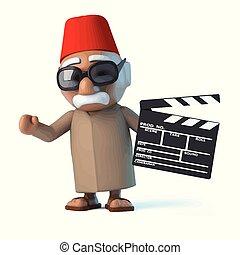 película, marcas, marroquí, 3d
