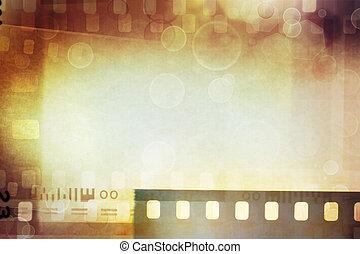 película, negativos, fundo
