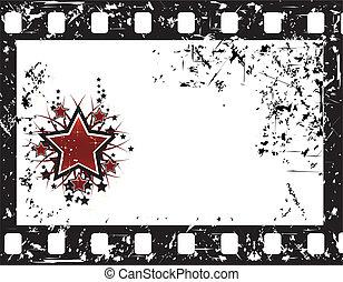 película, plano de fondo, estrellas