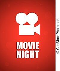 película, plano de fondo, noche